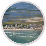Topsail Island Migratory Model Round Beach Towel