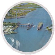 Topsail Island Top Of The Hour Round Beach Towel