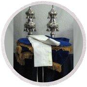 Torah Dressing Round Beach Towel