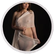 Toriwaits Nude Fine Art Print Photograph In Color 5082.02 Round Beach Towel