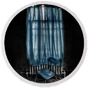 Tormented In Grace Round Beach Towel