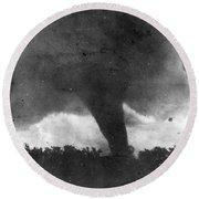 Tornado, C1913-1917 Round Beach Towel