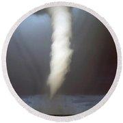 Tornado Funnel Round Beach Towel