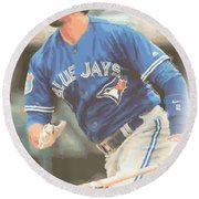 Toronto Blue Jays Troy Tulowitzki Round Beach Towel