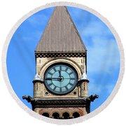 Toronto Clock Tower Round Beach Towel