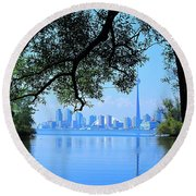 Toronto Framed Round Beach Towel