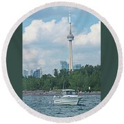 Toronto Island  Round Beach Towel