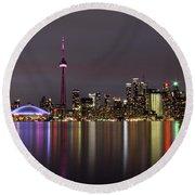 Toronto Lights Round Beach Towel