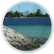 Toronto Shoreline Round Beach Towel