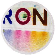 Toronto Sign In Muted Colours Round Beach Towel