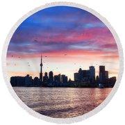 Toronto Skyline Round Beach Towel