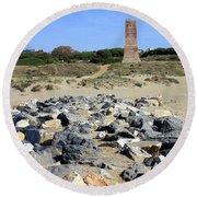 Torre De Los Ladrones At Cabopino Round Beach Towel