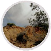 Torrey Pines-2 Round Beach Towel