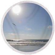 Torrey Pines Beach Round Beach Towel