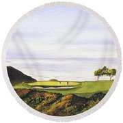 Torrey Pines South Golf Course Round Beach Towel