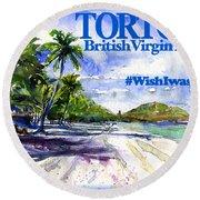 Tortola British Virgin Islands Shirt Round Beach Towel