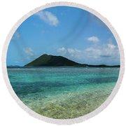 Tortola Waters Round Beach Towel