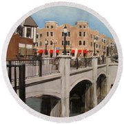 Tosa Village Bridge Round Beach Towel