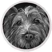 Tosha The Highland Terrier Round Beach Towel