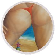 Total Happiness Round Beach Towel