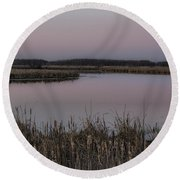 Total Peace And Calm Round Beach Towel