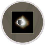 Total Solar Eclipse Aug 21, 2017 Round Beach Towel