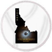 Total Solar Eclipse In Idaho Map Outline Round Beach Towel