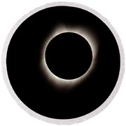Totality 2-solar Eclipse Round Beach Towel