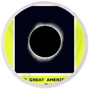 Totality II Round Beach Towel