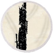 Totem Round Beach Towel