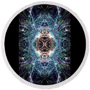 Totems Of The Vision Quests #1526 Round Beach Towel