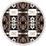 Totheme Black And Brown Round Beach Towel