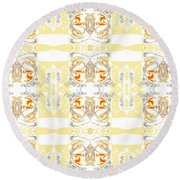 Totheme Yellow Round Beach Towel