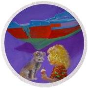 Toto Round Beach Towel
