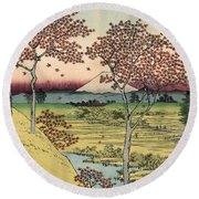 Toto Meguro Yuhhigaoka - Sunset Hill Meguro In The Eastern Capitol Round Beach Towel