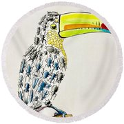 Toucan - You Are What You Eat Round Beach Towel