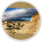Touch Of A Rainbow Round Beach Towel