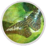 Touch Of Blue 8251 Idp_2 Round Beach Towel