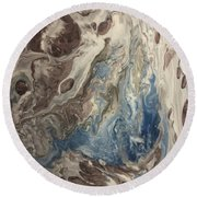 Touch Of Blue Round Beach Towel