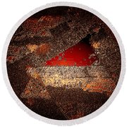 Touch Of Brown Round Beach Towel
