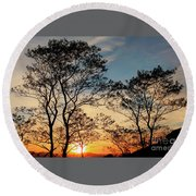 Touch Of Light Round Beach Towel