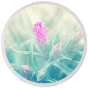 Touch Of Pink Round Beach Towel