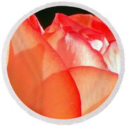 Touch Of Rose Round Beach Towel