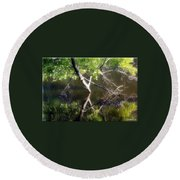Touch Of Silence Round Beach Towel