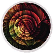 Touch Of Sunshine Abstract Round Beach Towel