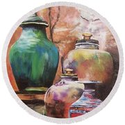 Touch Of Tuscan Round Beach Towel