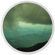 Touch The Clouds. Round Beach Towel