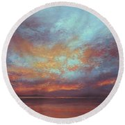 Touches Of Light Round Beach Towel