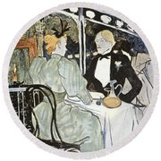 Toulouse-lautrec: Menu Round Beach Towel