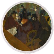 Toulouse-lautrec Moulin Rouge Round Beach Towel